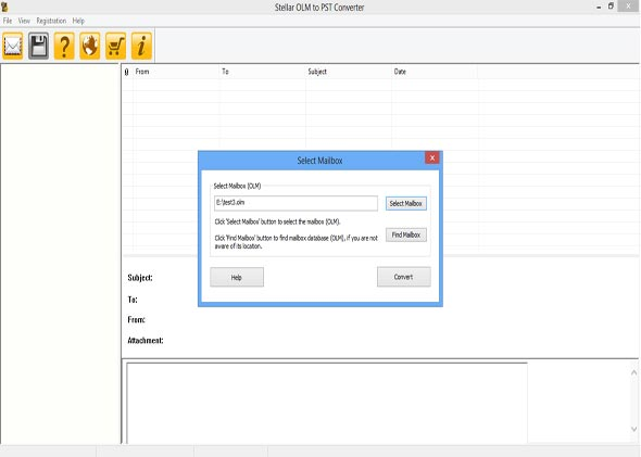 The Home Screen of the OLM to PST Converter Software