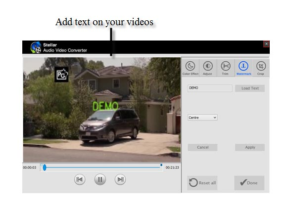 Add Text on Your Videos