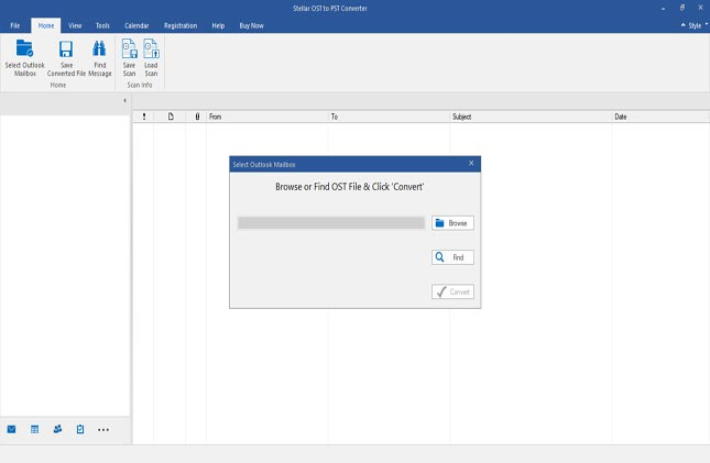 Select or Find Outlook OST File