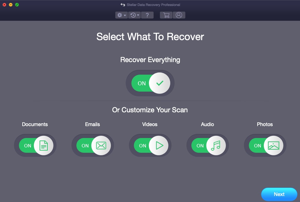Click 'Start New Scan' to Recover Deleted, Formatted, Lost files from Mac Hard Drives.