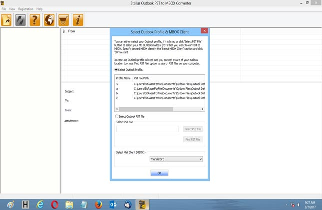Launch Outlook PST to MBOX Converter software.