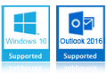 windows 10 and outlook 2016